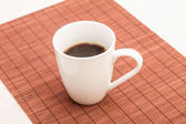 Steamy cup of coffee — Stock Photo