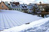 Snowy Panorama of Wemding — Stock Photo