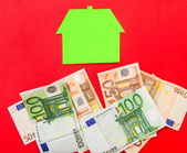 House and euros — Stock Photo