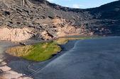 Laguna verde, lanzarote — Foto de Stock