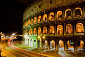 Coliseum by night, Rome Italy — Stockfoto