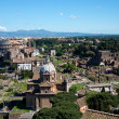 Panoramic view of ancient Roman ruins — Stock Photo