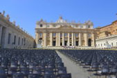 Saint Peter's square, Vatican City — Stock Photo