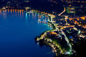 Panoramic view of the Garda Lake from the top of the hill — Stock Photo