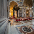 Altar of St. Peter's Basilica under the dome. — Stock Photo