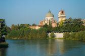 Church San Giorgio by the Adige river, Verona Italy — Foto Stock