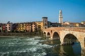 Ponte Pietra, Verona — Stock Photo