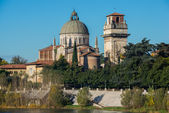 Church San Giorgio by the Adige river, Verona Italy — Photo