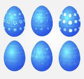 Blue eggs — Stock Vector