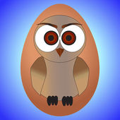 Little owl egg — Vector de stock