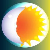 Sun and Moon — Stock Vector
