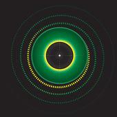 Green eye — Stock Vector