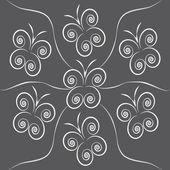 Gray butterflies — Stock Vector