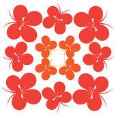 Orange butterflies — Stock Vector