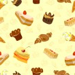 Background of Cake and other sweets — Stock Vector #24392557