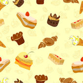 Background of Cake and other sweets — Stock Vector