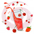 Berry juice — Stock Vector