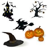 Icon set for Halloween — Stock Vector