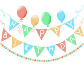 Birthday, a banner on a white background — Stock Vector