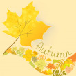 Abstract background with autumn maple leaf — Stock Vector #31140117