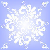 Floral pattern on a blue background — Stock Vector
