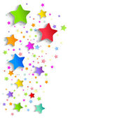 Background of colorful applique stars — ストックベクタ