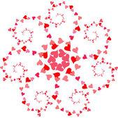 Circular spiral pattern of hearts — Vetorial Stock