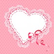 Lace heart with ribbon — Stock Vector #39642075
