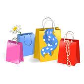 Nákupní tašky — Stock vektor