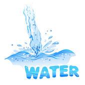 Stream water jet — Stock Vector