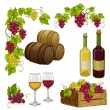 Stock Vector: Set for winemaking