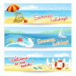 Three summer sea banners — Stock Vector #45215703
