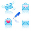 Set of icons envelopes messages — Stock Vector #48082807
