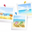 Three summer sea photo — Stock Vector #51212481