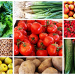 Collage of Vegetables & Fruits — Stock Photo