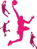 Basketbalspeler — Stockvector