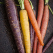 Stock Photo: Organic Rainbow Carrots