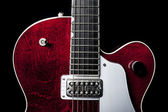 American Red Electric Guitar — Foto de Stock