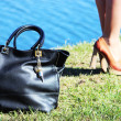 Handbag and shoes: the main weapon of fashion — 图库照片