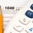 TaX Documents With Accessories — Stockfoto
