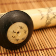 Opium Pipe On A Bamboo Mat — Stock Photo
