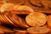 Pennies Extreme Close Up — Foto Stock