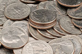 American Quarters Close UP — Stock Photo
