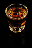 Whiskey Glass In Portrait On Black — 图库照片