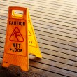 Caution Wet Floor Sign — Stock Photo