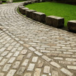 Colonial Brick Road — Stock Photo
