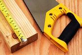 Cutting Lumber — Stock Photo