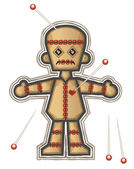 Voodoo Doll — Stock Vector