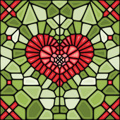Voronoi Heart abstract — Wektor stockowy