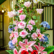 Colorful Artificial Flower Arrangement — Stock Photo #33389495